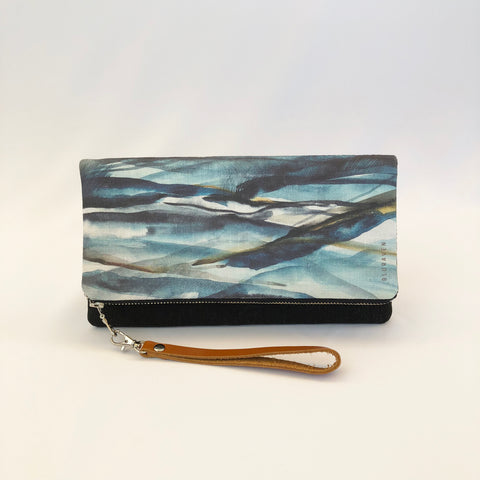 Bluraven Linen Clutch in Blue Range Design