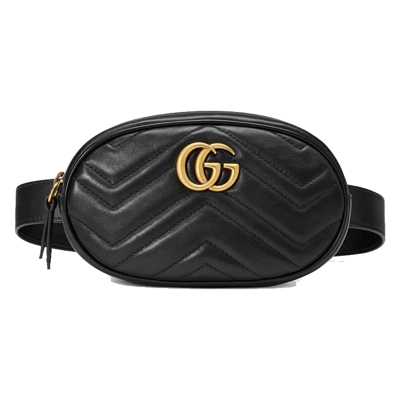 GG Marmont Matelassé Leather Belt Bag