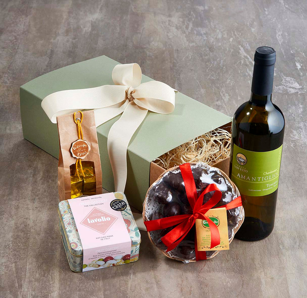 Birthday Hamper for Her with wine and 3 types of chocolates