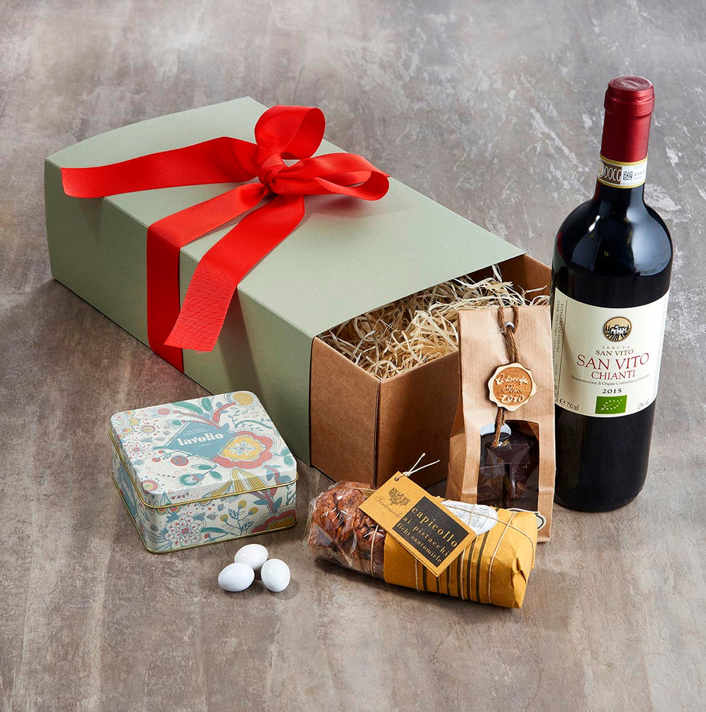 Birthday Hamper for Him with Chianti and sweet treats