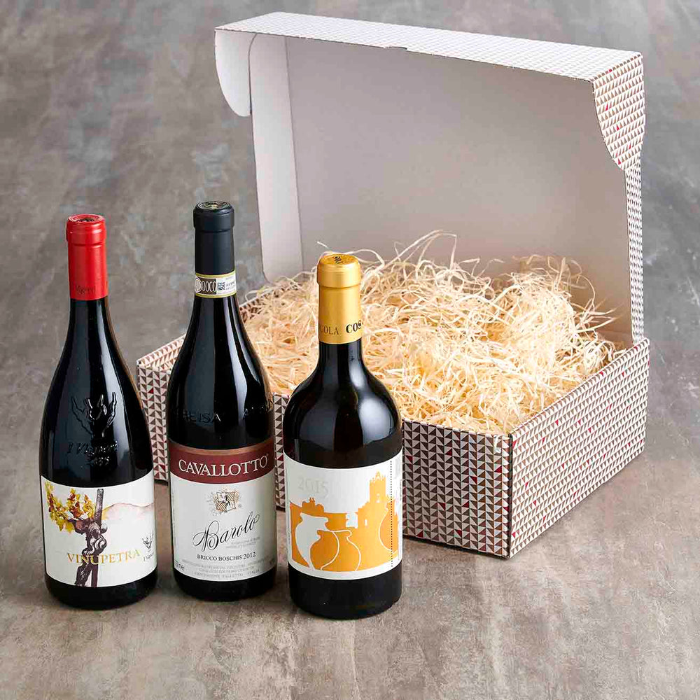 Vorrei Italian Hampers Deluxe Trio of Organic Wine