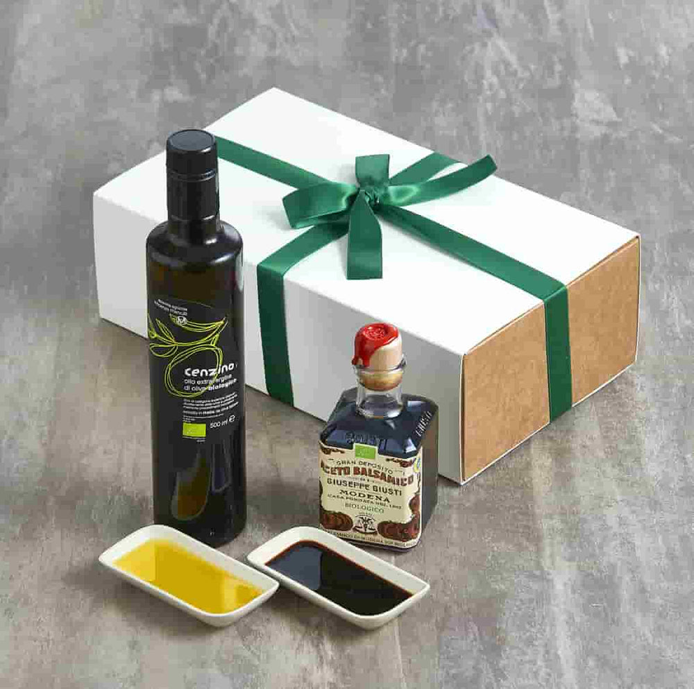 Organic Olive OIl & Balsamic Dipping Set