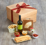 Italian aperitivo kit with wine and snacks
