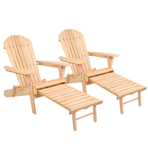 Gardeon Set of 2 Outdoor Sun Lounge Chairs Patio Furniture Beach Chair Lounger