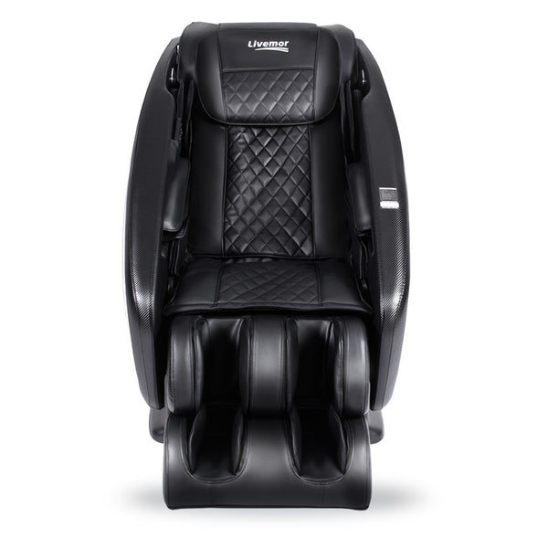 Livemor 3D Electric Massage Chair Shiatsu SL Track Full Body 58 Air Bags Black