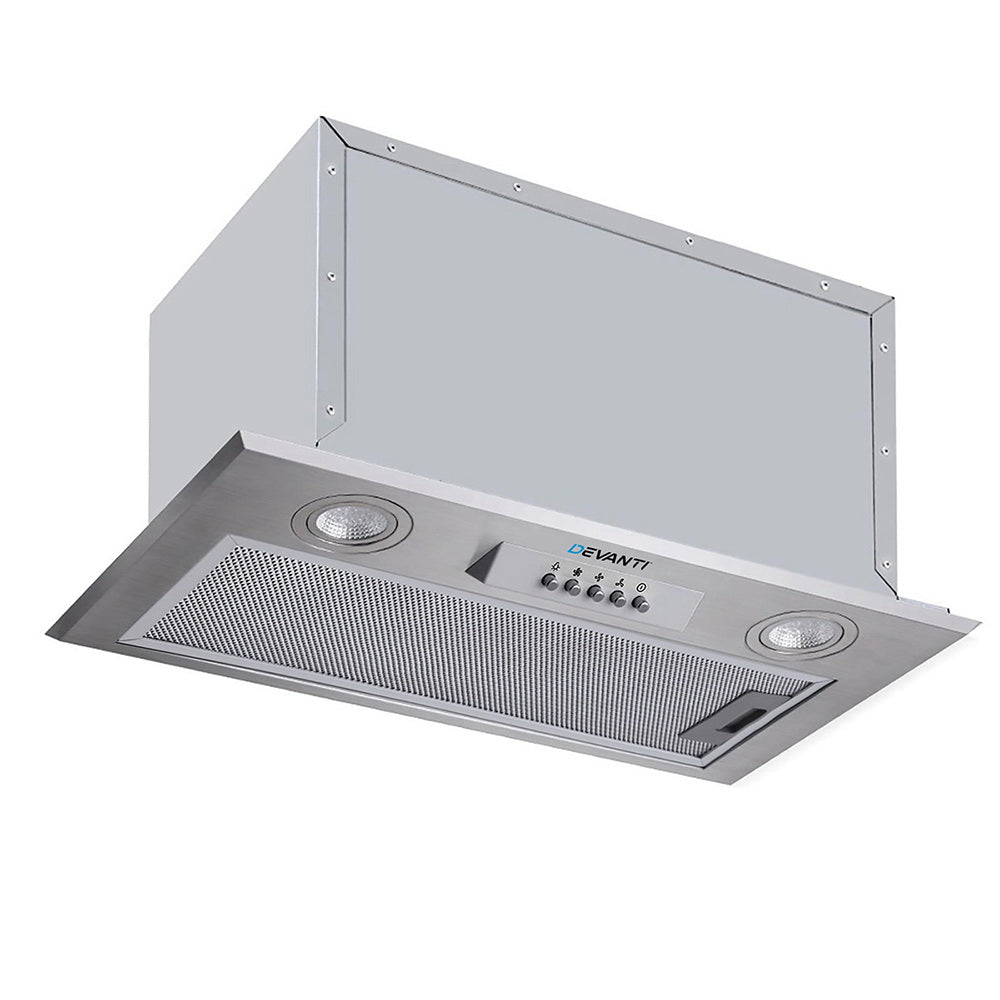 Devanti Range Hood Rangehood Undermount Built In Stainless Steel Canopy 52cm 520mm
