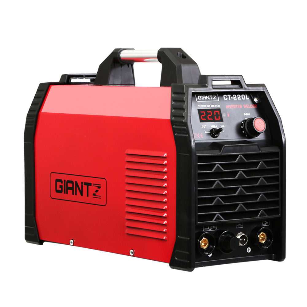 Giantz 220Amp Inverter Welder Plasma Cutter TIG iGBT DC Welding Machine Portable