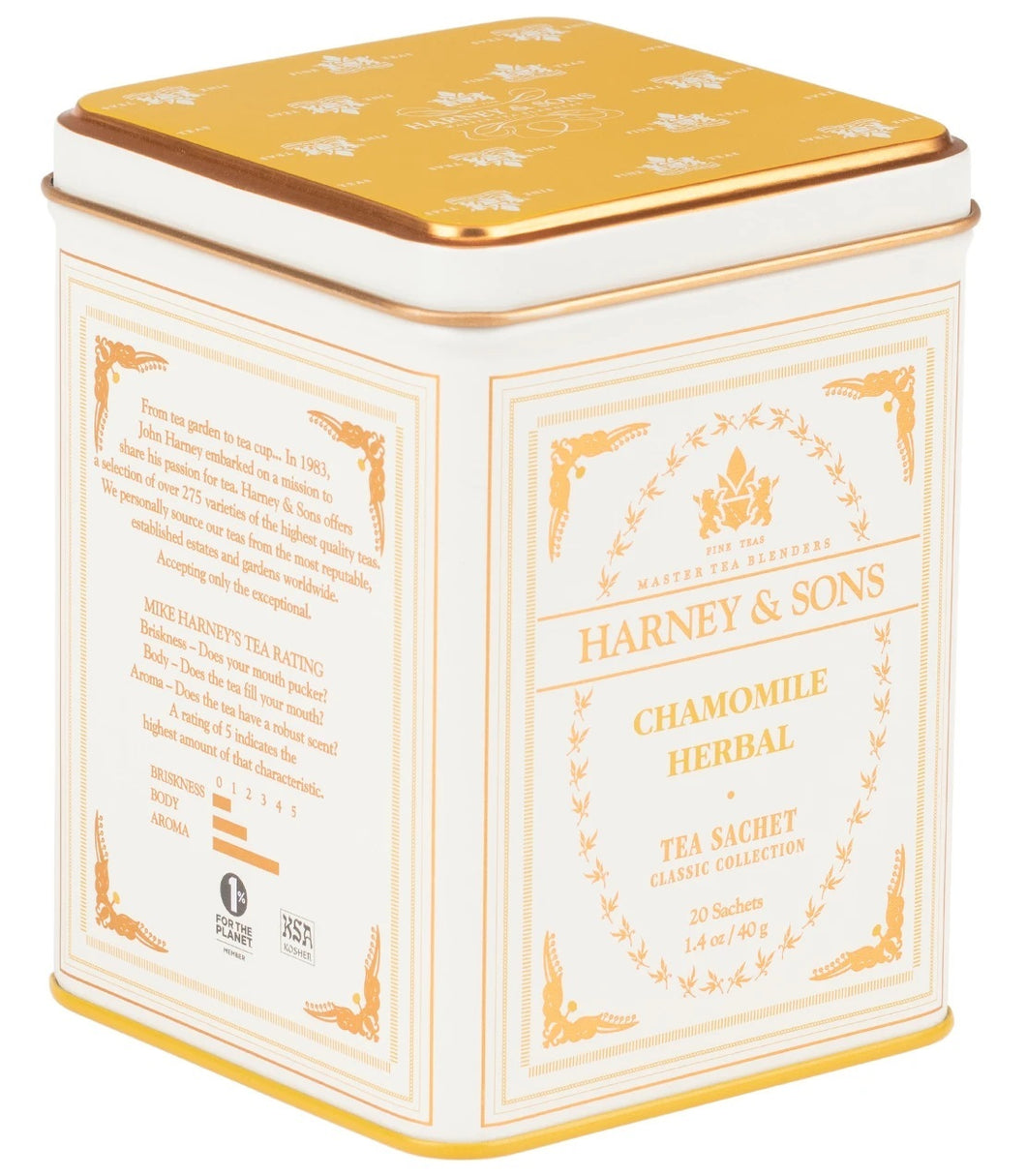 Chamomile Herbal, Classic Tin of 20 Sachets