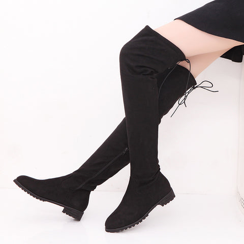 c50447a83f1 Faux Suede Slim over knee boots GSS1153 – Gorgeoussexyshoes