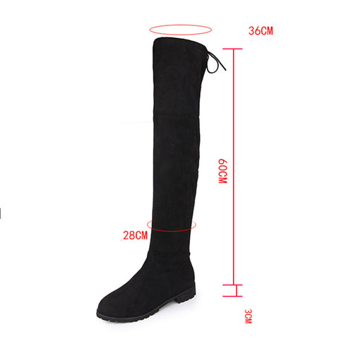 Faux Suede Slim over knee boots GSS1153