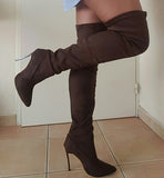 Over the knee thigh high stiletto boots GSS1158