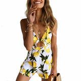 Sexy Spaghetti Strap Backless Sleeveless V-Neck Playsuit