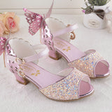 Girls Summer Princess Sandal Butterfly Shoes Wedding Party Shoes