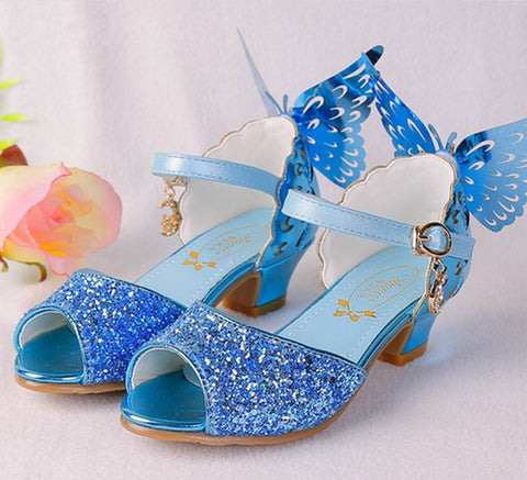 a880bf129b9b4 Girls Summer Princess Sandal Butterfly Shoes Wedding Party Shoes