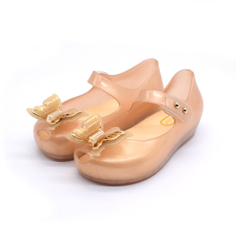 Children's Jelly LED sandals Light Fish Mouth Bow Tie Princess Butterfly Shoes