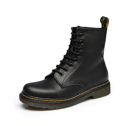 Women Genuine Leather Martin Boots