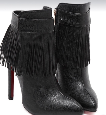 Fringe Effect Ankle Boots GSS1101