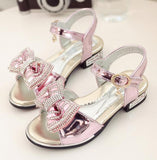 Girls bow children's princess shoes