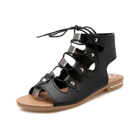 Hadrian-Gladiator Style Lace Up Sandals GSS1058