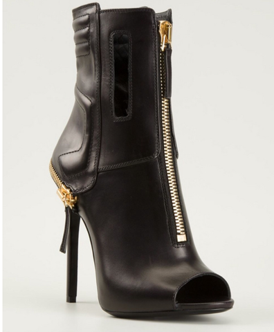 Peeptoe Zip Detail Ankle Boots GSS1110