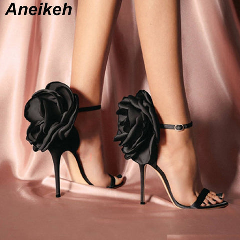Big Butterfly-knot Women Stiletto High Heel Sandas
