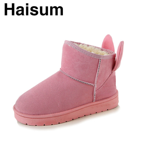 Childrens Rabbit Ears Snow Boots