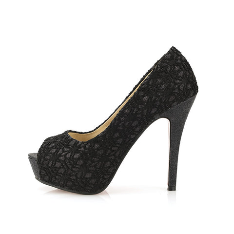 Dilalula Elegant Big Size 44 Sexy Lace Platform High Heels Party Lady women's Pumps Date Office Lady Peep Toe women's Shoes