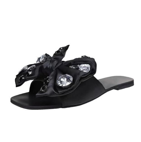 Crystal bowknot Sandals Summer open-toe sandals