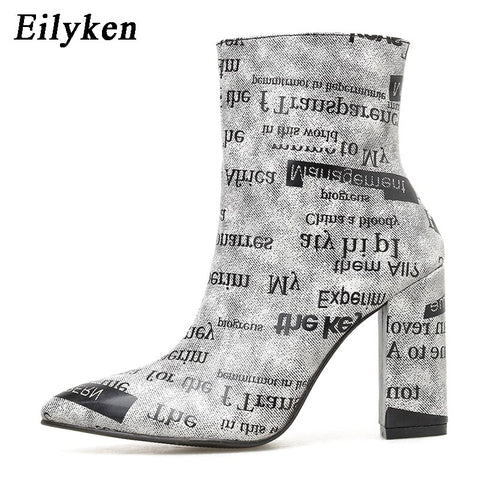 Eilyken High Heels Ankle Women Boots Pointed Toe Zipper Fashion Booties Party Sexy Female Shoes Woman Spring Winter