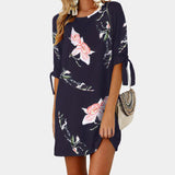 Ladies Floral Printed Mini Dress