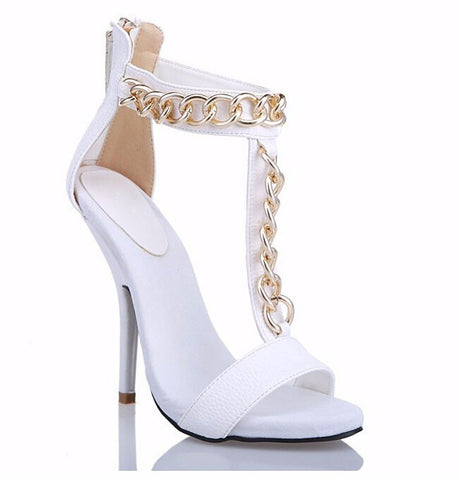 Gold Chain Stiletto Sandals GSS1082