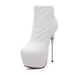 Quilted Effect High Stiletto Ankle Boots GSS1083