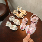 Girls Studded Heel Bow Princess Shoes