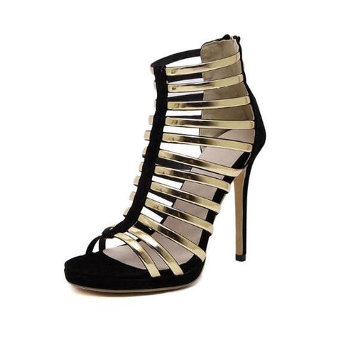 GSS1046 Harriet-Band Style High Heels Open Toe Sandals