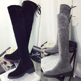 Over Knee Suede Effect Boots