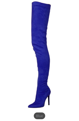 a4a1ede5cddd ... Ladies Extreme Thigh High Stiletto Stretch Boots GSS1160 ...