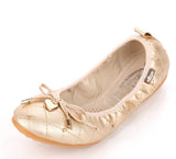 GorgeousSexyShoes Party Foldable Ballerina Flats Pumps Bow GSS1130