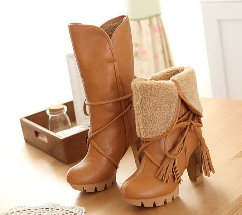 Chuncky Sole Winter Calf Boots GSS1081