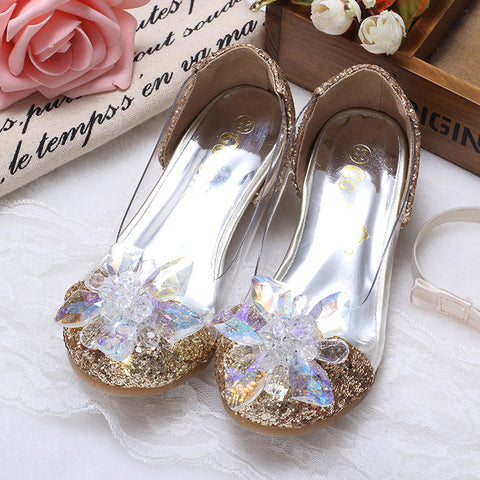 Children's Cinderella Princess Diamond Crystal Heeled Girls Sandals