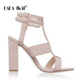 Women Buckle Strap High Heels Narrow Band Party Sandals Heeled Dress Shoes