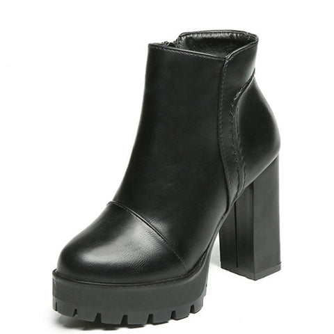 Block heel platform chunky ankle boots GSS1062
