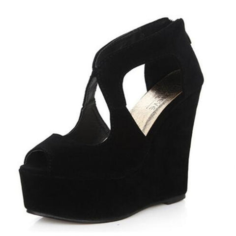 Gorgeous High Platform Wedge Sandals GSS1137