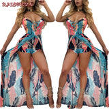 Women Backless Halter Beach Casual jumpsuit