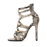 GSS1053 Snakeskin Gladiator Open Toe Sandals