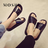 Summer women Slippers female indoor outdoor Slides Ladies Flat Sandals Flip Flops Bling Beach Zapatos Mujer Plus Size 35-44