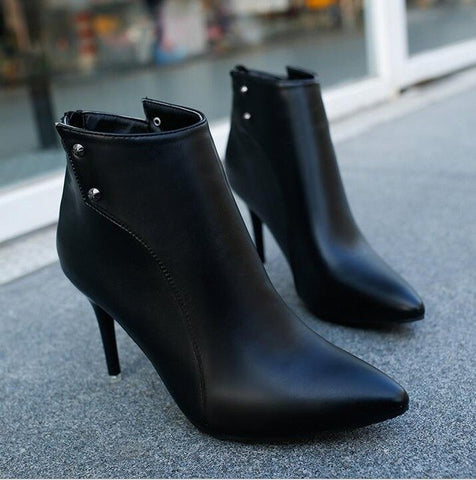 Ladies Studded Ankle Boots