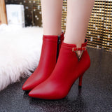 Ladies high heel Martin ankle boots