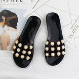 Women Beach Slippers Slip On Sandals Summer Slides String Bead Ladies Casual Shoes Chaussure Femme