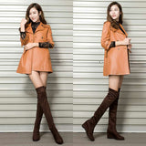 Ladies Over The Knee Thigh High Suede Boots