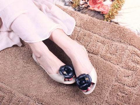 Camellia Casual Sandal Flower Jelly Flats